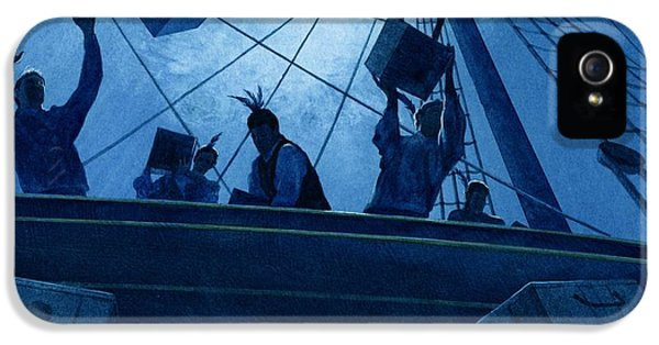 American Revolution iPhone 5 Cases - Boston Tea Party iPhone 5 Case by Rob Wood