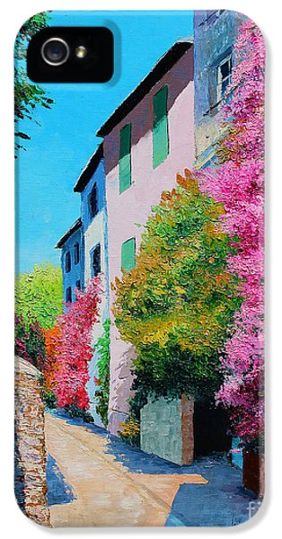 Jeans iPhone 5 Cases - Bougainvillea in Grimaud iPhone 5 Case by Jean-Marc Janiaczyk