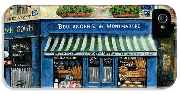 Street Scene iPhone 5 Cases - Boulangerie de Montmartre iPhone 5 Case by Marilyn Dunlap
