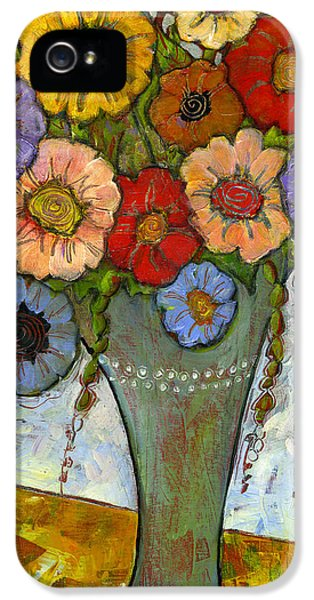 Artsy iPhone 5 Cases - Bouquet of Flowers iPhone 5 Case by Blenda Studio