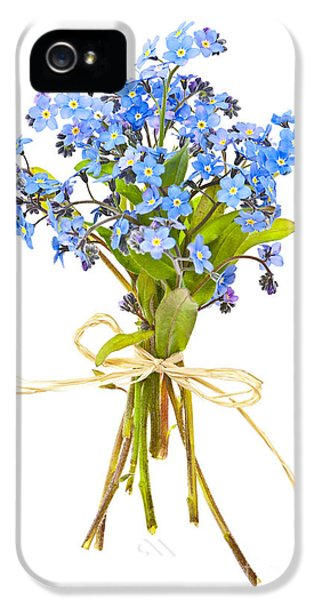 Forget Me Not iPhone 5 Cases - Bouquet of forget-me-nots iPhone 5 Case by Elena Elisseeva