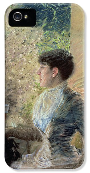 Cane iPhone 5 Cases - Bow Window iPhone 5 Case by Giuseppe Nittis