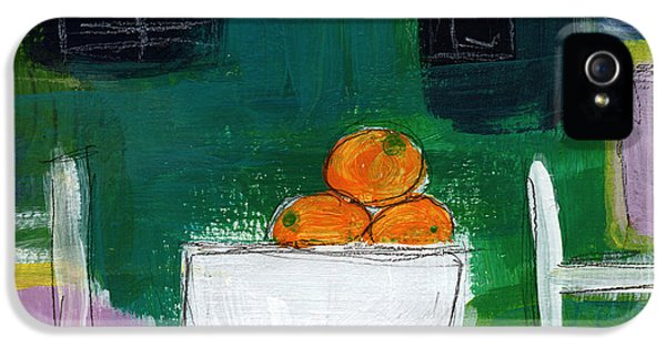 Sketch iPhone 5 Cases - Bowl of Oranges- Abstract Still Life Painting iPhone 5 Case by Linda Woods
