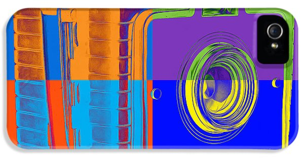 Box iPhone 5 Cases - Box Camera Pop Art 1 iPhone 5 Case by Edward Fielding