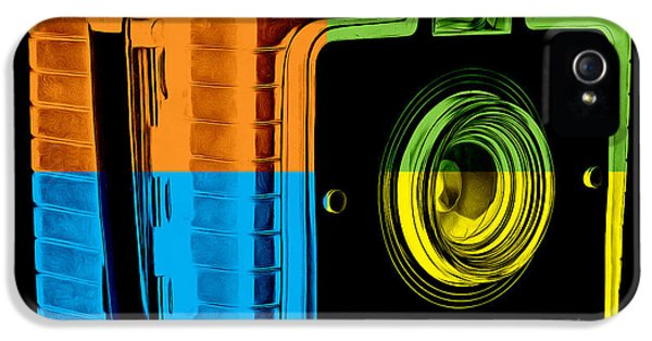 Box iPhone 5 Cases - Box Camera Pop Art 2 iPhone 5 Case by Edward Fielding