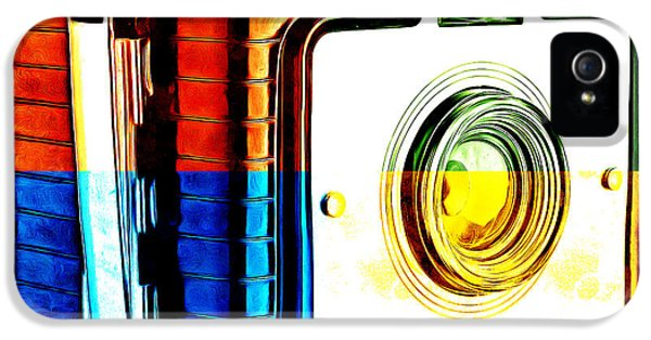 Box iPhone 5 Cases - Box Camera Pop Art 3 iPhone 5 Case by Edward Fielding