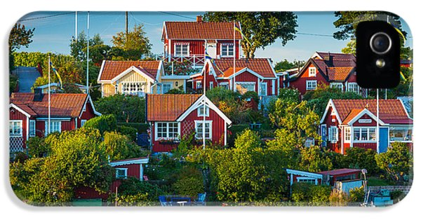 Scandinavian iPhone 5 Cases - Brandaholm Cottages iPhone 5 Case by Inge Johnsson