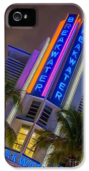 1936 iPhone 5 Cases - Breakwater Hotel Art Deco District SOBE Miami iPhone 5 Case by Ian Monk