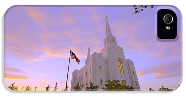 Brigham City Temple I IPhone 5 / 5s Case by Chad Dutson