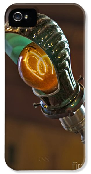 Filament (lightbulb) iPhone 5 Cases - Bright Idea iPhone 5 Case by Susan Candelario