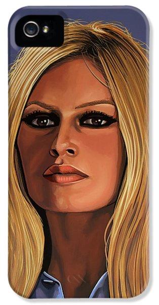 Paul Meijering iPhone 5 Cases - Brigitte Bardot iPhone 5 Case by Paul Meijering