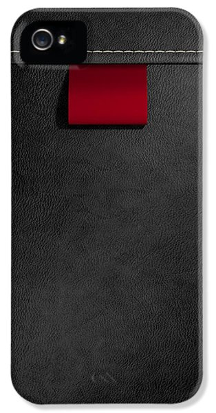 Broad Clothing Label In Black Leather IPhone 5 / 5s Case by Allan Swart