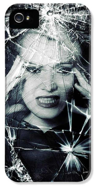 Fragment iPhone 5 Cases - Broken Window iPhone 5 Case by Joana Kruse