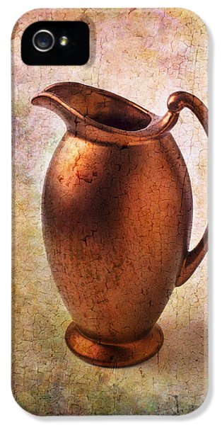 Bronze iPhone 5 Cases - Bronze Pitcher iPhone 5 Case by Garry Gay