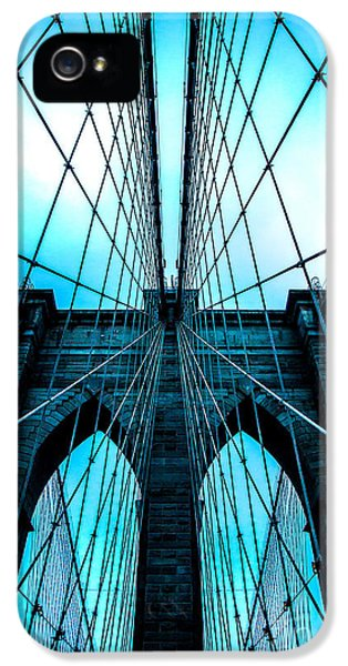 Cable iPhone 5 Cases - Brooklyn Blues iPhone 5 Case by Az Jackson