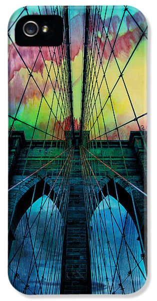 Cable iPhone 5 Cases - Psychedelic Skies iPhone 5 Case by Az Jackson