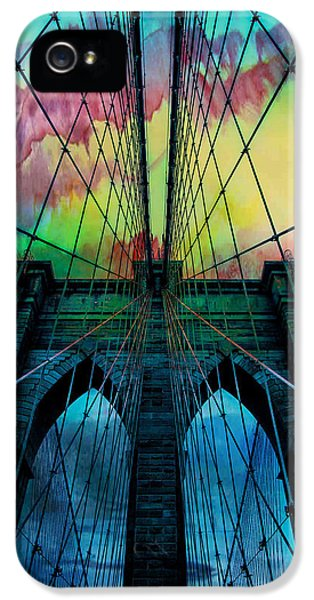 Skyscraper iPhone 5 Cases - Psychedelic Skies iPhone 5 Case by Az Jackson