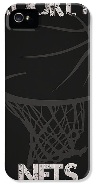 Net iPhone 5 Cases - Brooklyn Nets Hoop iPhone 5 Case by Joe Hamilton