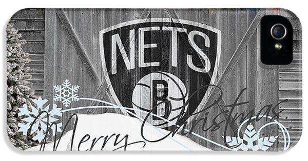 Net iPhone 5 Cases - Brooklyn Nets iPhone 5 Case by Joe Hamilton