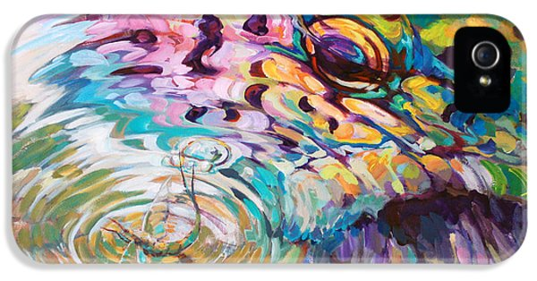 Brown Trout And Mayfly - Abstract Fly Fishing Art  IPhone 5 / 5s Case by Savlen Art