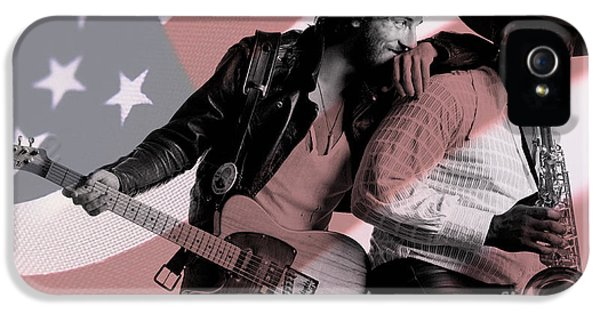 Springsteen iPhone 5 Cases - Bruce Springsteen Clarence Clemons iPhone 5 Case by Marvin Blaine