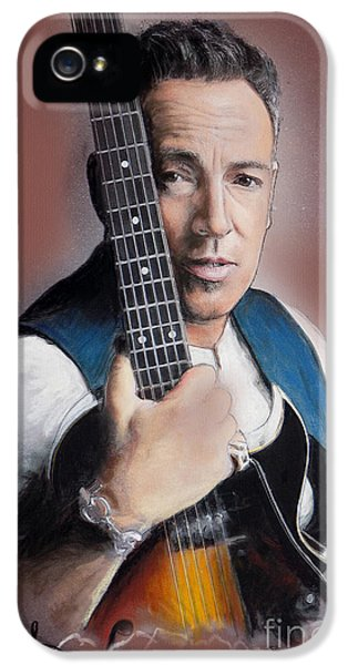 Springsteen iPhone 5 Cases - Bruce Springsteen iPhone 5 Case by Melanie D