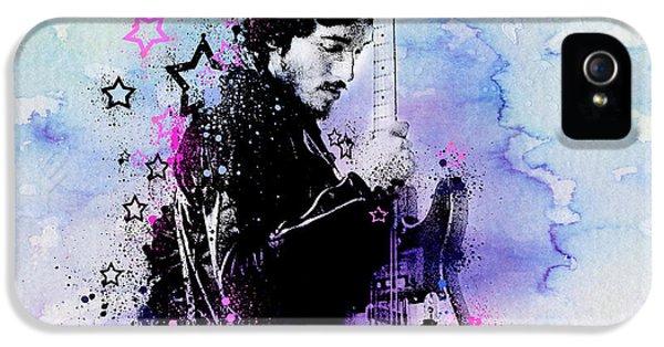 Bruce Springsteen Splats And Guitar 2 IPhone 5 / 5s Case by Bekim Art