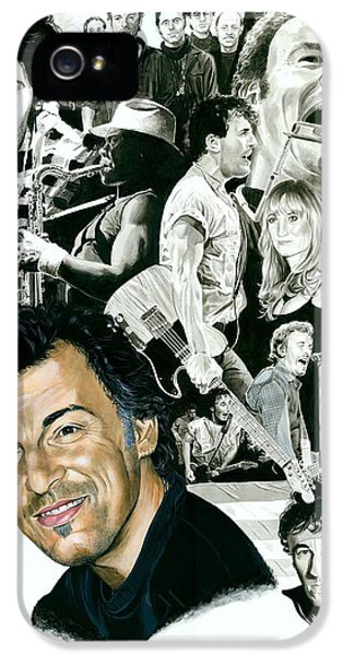 Bruce Springsteen Through The Years IPhone 5 / 5s Case by Ken Branch