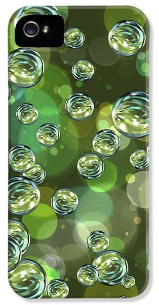Bubbles iPhone 5 Cases - Bubbles iPhone 5 Case by Veronica Minozzi