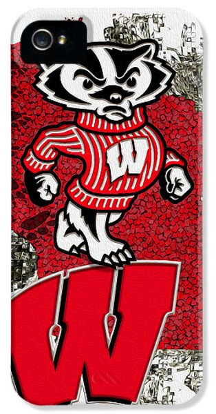 Painter iPhone 5 Cases - Bucky Badger University of Wisconsin iPhone 5 Case by Jack Zulli