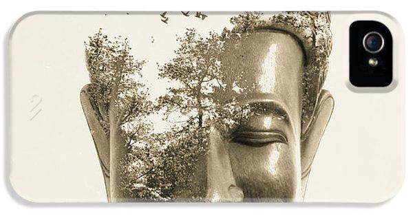 Nirvana iPhone 5 Cases - Buddha non attachment iPhone 5 Case by Budi Satria Kwan