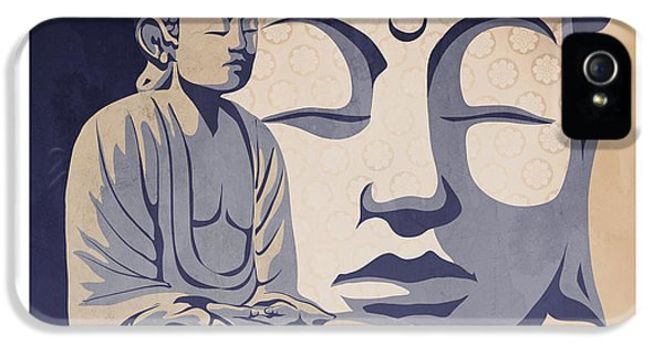 Mind iPhone 5 Cases - Buddha iPhone 5 Case by Sassan Filsoof