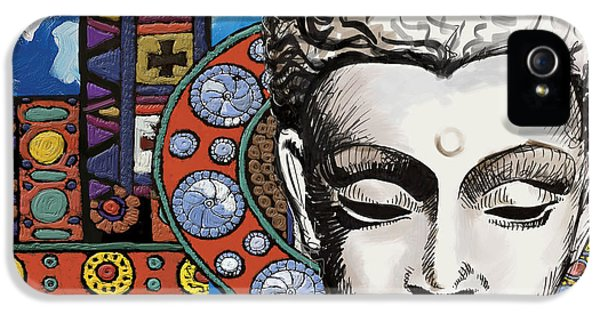 Artsy iPhone 5 Cases - Buddha Tapestry Style iPhone 5 Case by Corporate Art Task Force