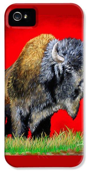 Buffalo Warrior IPhone 5 / 5s Case by Teshia Art