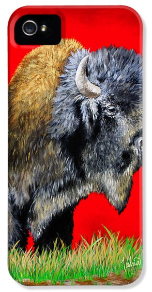 Featured iPhone 5 Cases - Buffalo Warrior iPhone 5 Case by Teshia Art