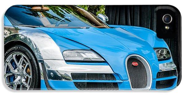 Bugatti Classic Car iPhone 5 Cases - Bugatti Legend - Veyron Special Edition -0844c iPhone 5 Case by Jill Reger