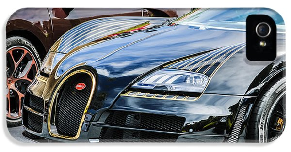 Bugatti Classic Car iPhone 5 Cases - Bugatti Legend - Veyron Special Edition -0845c iPhone 5 Case by Jill Reger