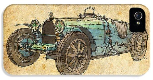 Bugatti Classic Car iPhone 5 Cases - Bugatti iPhone 5 Case by Pablo Franchi