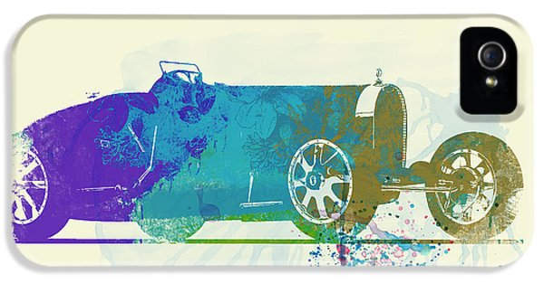 Bugatti Classic Car iPhone 5 Cases - Bugatti Type 35 R watercolor iPhone 5 Case by Naxart Studio