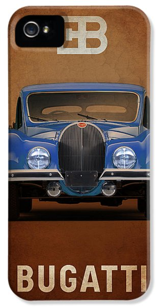 Bugatti Classic Car iPhone 5 Cases - Bugatti Type 57 iPhone 5 Case by Mark Rogan
