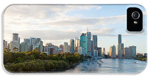 No People iPhone 5 Cases - Buildings At The Waterfront, Brisbane iPhone 5 Case by Panoramic Images