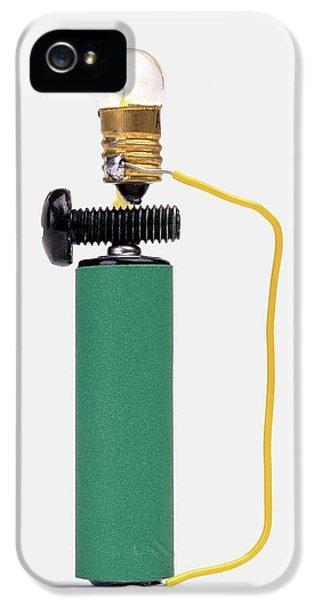 Bulb Resting On Steel Screw IPhone 5 / 5s Case by Dorling Kindersley/uig