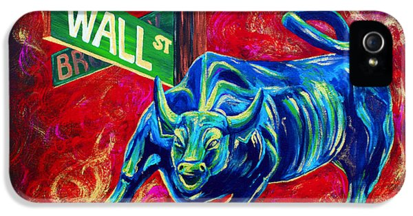 Bulls iPhone 5 Cases - Bull Market iPhone 5 Case by Teshia Art