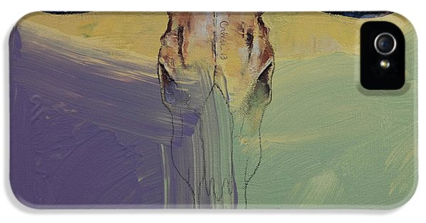 Modern Western iPhone 5 Cases - Bull iPhone 5 Case by Michael Creese