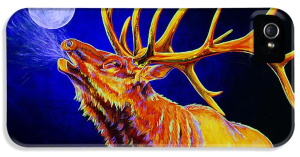 Hunting iPhone 5 Cases - Bull Moon iPhone 5 Case by Teshia Art