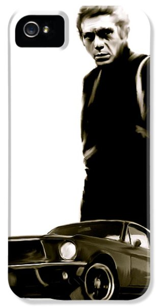 Bullets iPhone 5 Cases - Bullet Cool  Steve McQueen iPhone 5 Case by Iconic Images Art Gallery David Pucciarelli