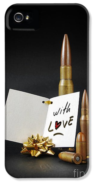 Ammunition iPhone 5 Cases - Bullets For You iPhone 5 Case by Carlos Caetano