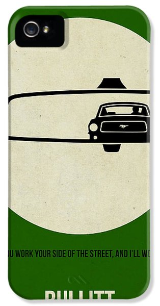Tv Show iPhone 5 Cases - Bullitt Poster iPhone 5 Case by Naxart Studio