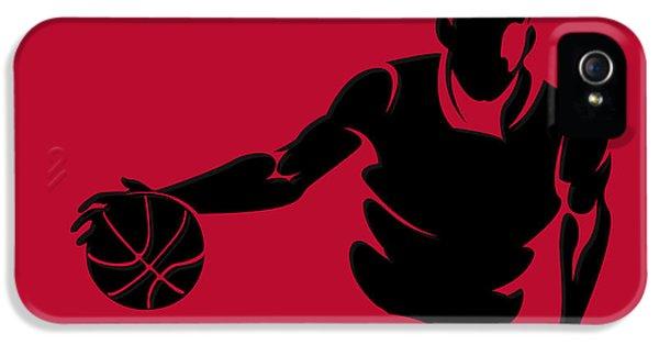 Chicago Bulls iPhone 5 Cases - Bulls Shadow Player1 iPhone 5 Case by Joe Hamilton