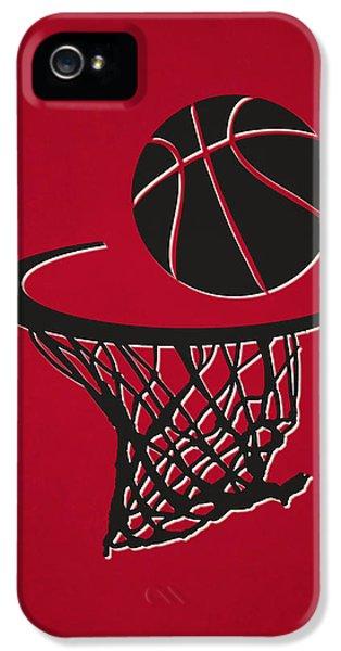 Chicago Bulls iPhone 5 Cases - Bulls Team Hoop2 iPhone 5 Case by Joe Hamilton